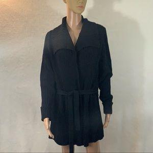 Jeanne Pierre cardigan black Size S belt